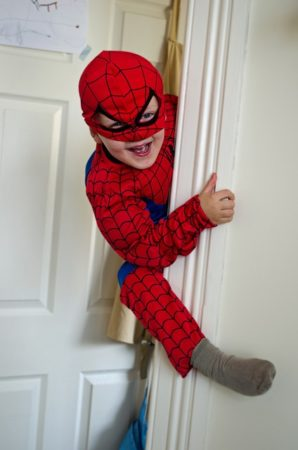 Climbing, Child, Spiderman