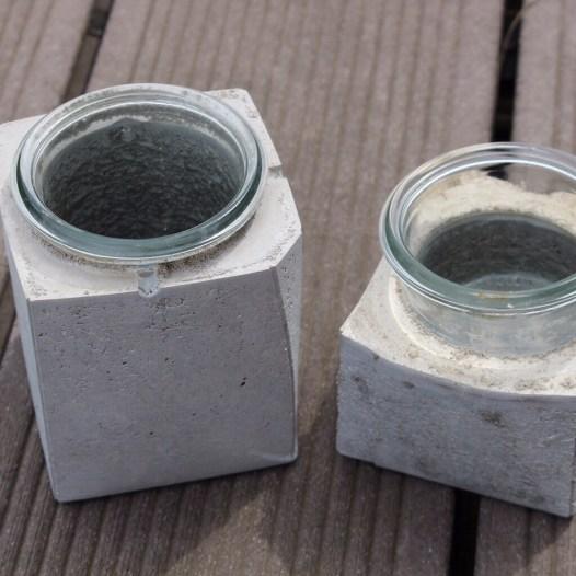 creadienstag windlichter aus betonmama. Black Bedroom Furniture Sets. Home Design Ideas