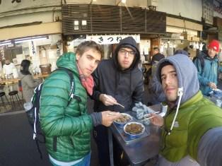 Desayunando e el Fish Market