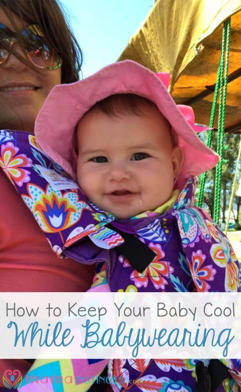 It's getting hot and it feels even hotter when you're babywearing. Try this useful tip to keep your baby cool while babywearing and in the stroller.