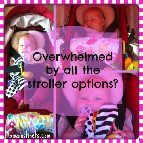 Overwhelmed by all the stroller options