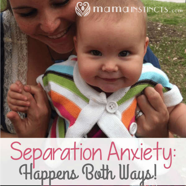 Do you have a hard time being away from your baby? You're not alone. #parenting #separationanxiety #motherhood
