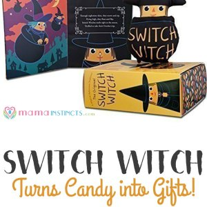 Switch Witch: turns candy into gifts + free template letter