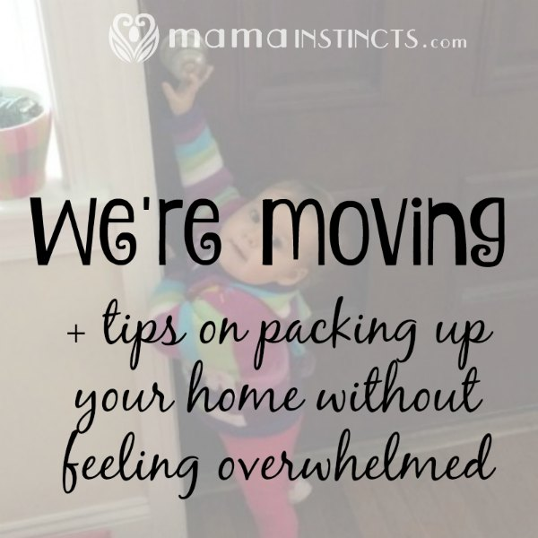 We are moving (again!). Find out how you can pack up your home without getting overwhelmed. #moving #packing #newhome
