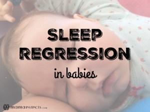 Sleep regression in babies + tips