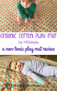 Organic cotton play mat by Pillobebe review