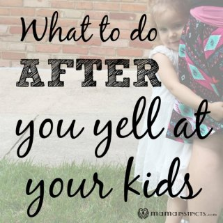 Although we don't want to, there are times we end up yelling at our kids. Click to read about what to do after we yell them and how to fix the situation.