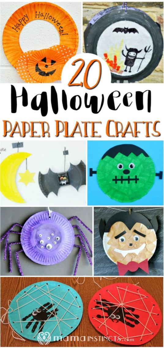 Halloween is the perfect time to make crafts and even more so when they're paper plate crafts. Make these halloween paper plate crafts with your kids today or save this pin for later.