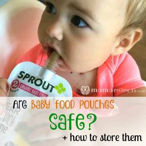 Are baby food pouches safe + how to store them