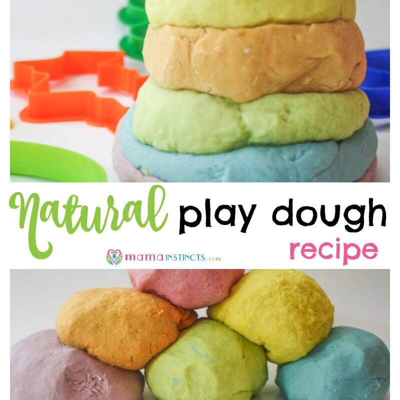 Try this recipe and stop worrying about your kid putting play dough in their mouth. It's safe, non-toxic and easy to make. The best part is that it's made with ingredients you find in any kitchen. Try this natural play dough recipe today or save it for later.