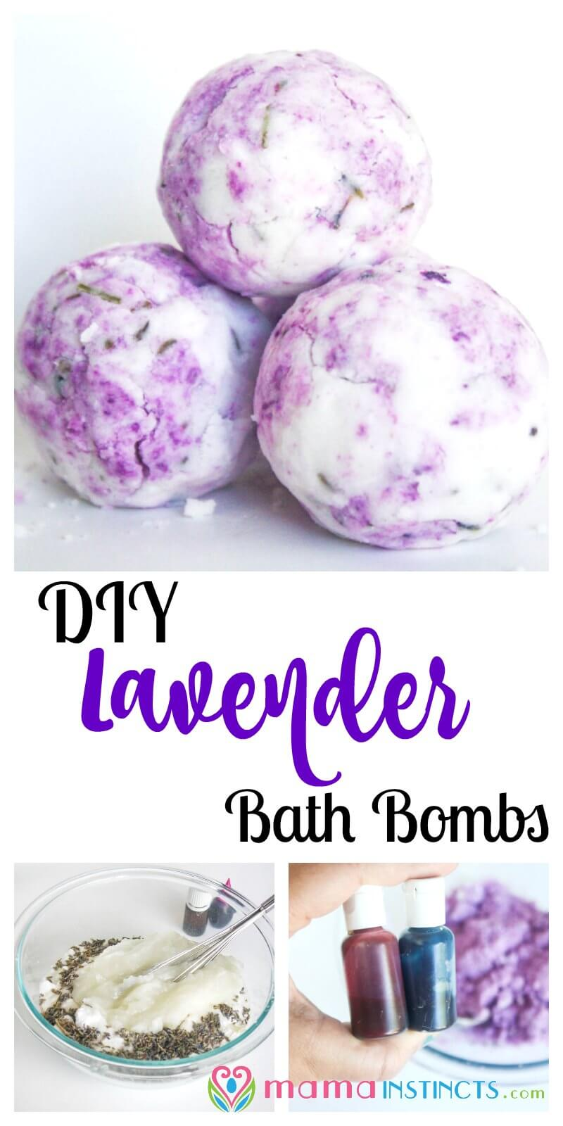 Diy lavender bath bombs mama instincts try this easy lavender lemon and peppermint bath bomb recipe and give yourself a spa solutioingenieria Images
