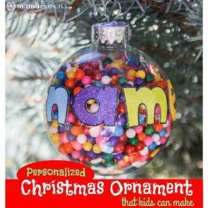 Personalized Christmas Ornament that Kids Can Make