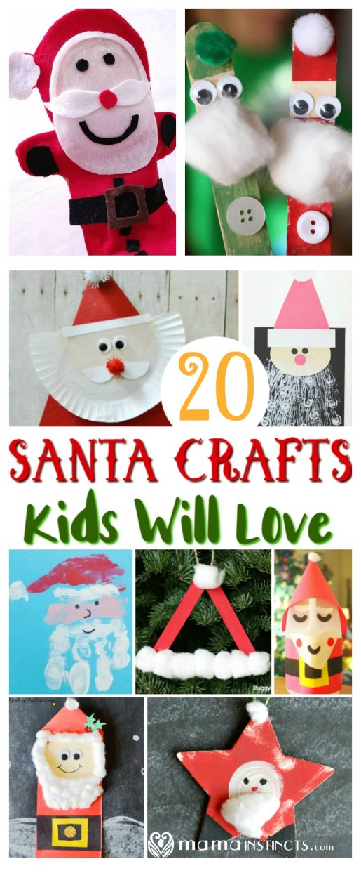 December it's the perfect time to start making Santa Claus crafts with your kids. Try these fun and cute crafts that will entertain the entire family.