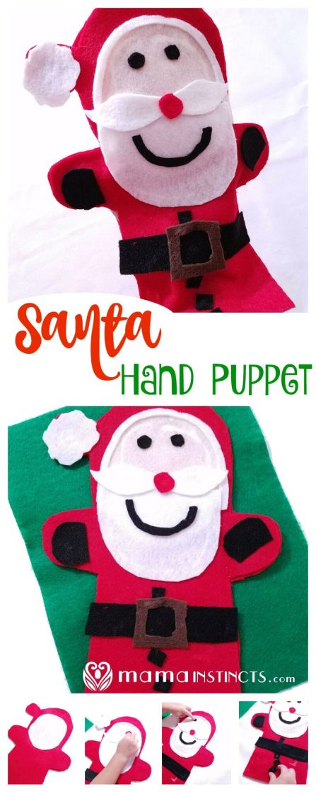 Try this easy and adorable Christmas craft. It's easy enough for the little ones to make and everyone can play with it. This Santa Hand puppet will be a success and you can even make other Christmas hand puppets using these instructions.
