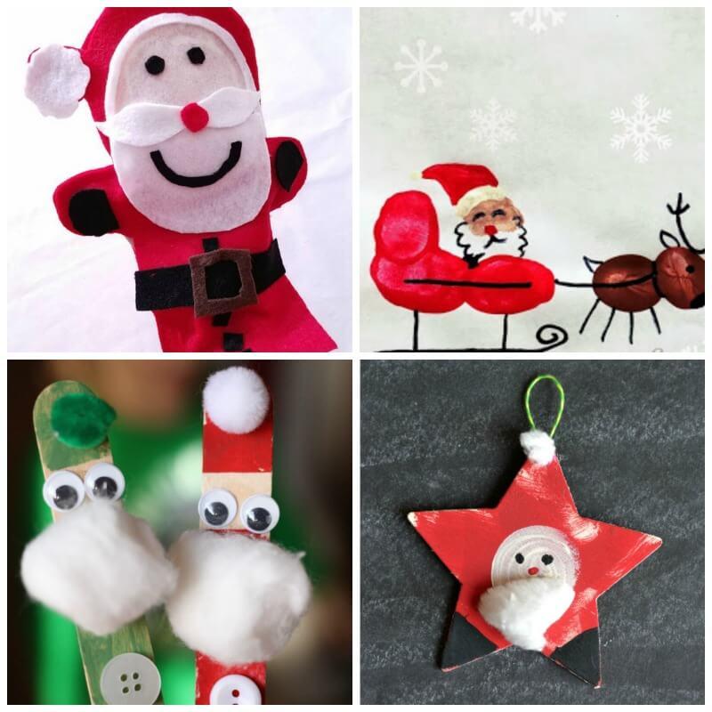 20 santa crafts kids will love - Santa Crafts