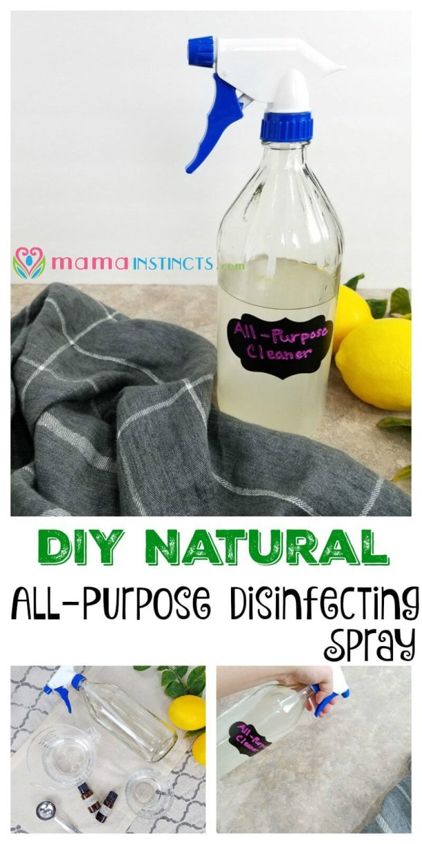 Try this DIY all purpose cleaner that is all natural, non-toxic and safe to use around kids. Perfect for cleaning kitchens and bathrooms.