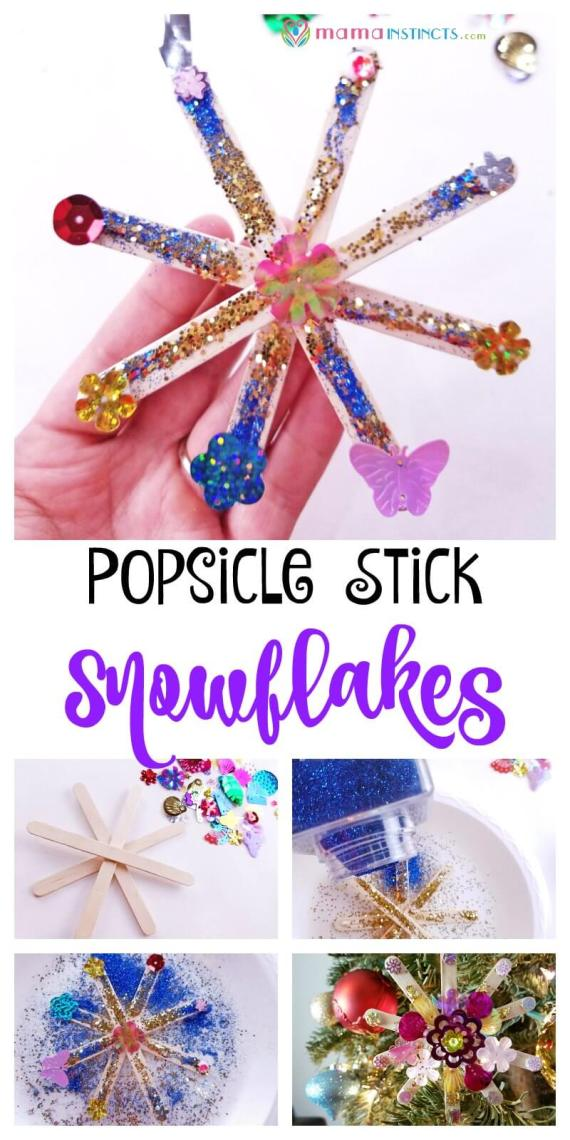 Try this fun craft for a snowy day but easy enough to make with your little ones.  This snowflake craft it's great for Frozen birthday parties, as a decoration or just to keep the kids busy.