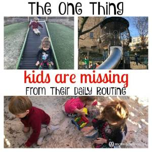 The One Thing Kids are Missing From Their Daily Routine