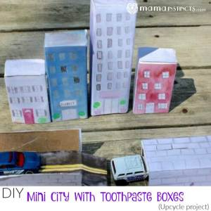 DIY Mini-City with Toothpaste Boxes (Upcycle project)