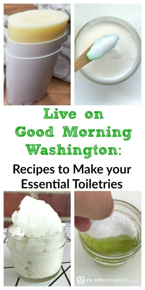 Want to learn how to make your own essential toiletries, like toothpaste, make-up remover, magnesium body butter and deodorant? Check out my latest segment on Good Morning Washington and get these DIY recipes.