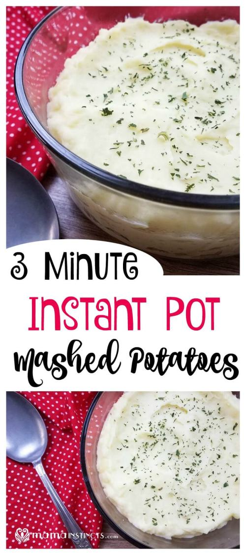 Try this instant pot recipe and make mashed potatoes in just a few minutes. They are so tasty and fluffy, you won't cook mashed potatoes any other way after trying this instant pot recipe.