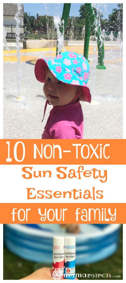 Summer is here once again which means sunscreen is advertised everywhere but did you know that conventional sunblock contains toxic chemicals? Find out what are the best practices to keep your children away from toxic chemicals during the summer time, while still protecting from the sun. From non-toxic sunscreen to UV blocking shirts and more.