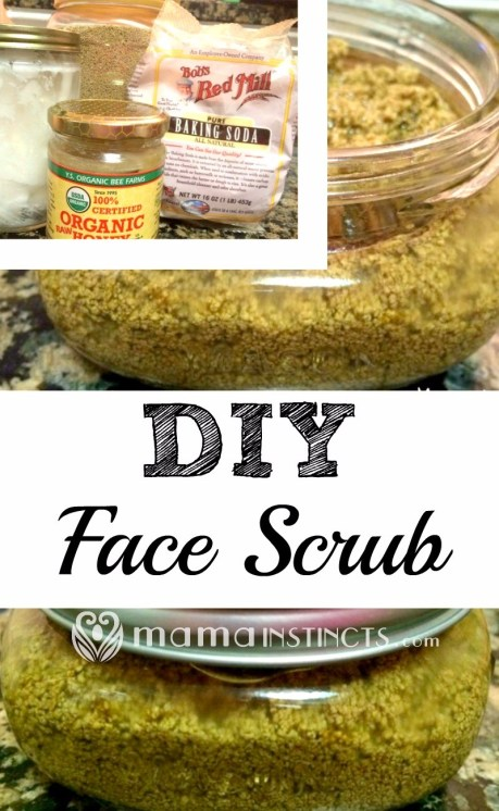 Make your own organic, natural & non-toxic face scrub in under 5 minutes. Your skin will feel so much cleaner and smoother.
