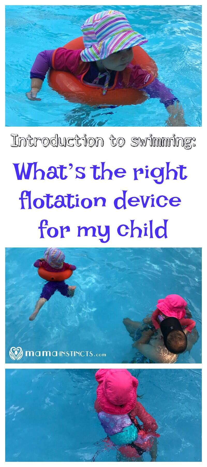 Introduction To Swimming What S The Right Flotation Device For My