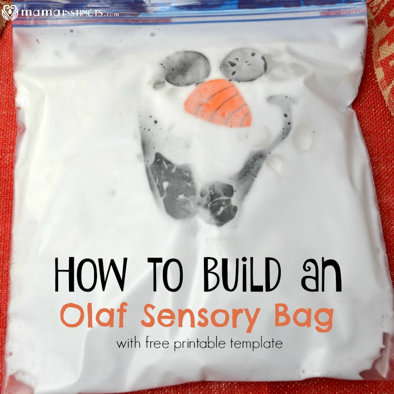 photo about Olaf Printable named How in direction of Acquire an Olaf Sensory Bag (with totally free printable