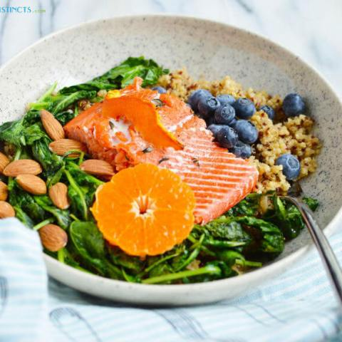 Instant Pot Quinoa and Salmon Bowl