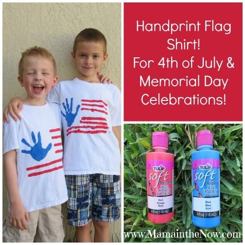 Pin This! Handprint Flag Shirt