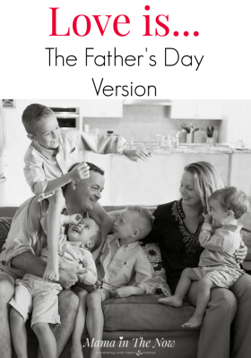 This Father's Day, celebrate the love of your life, the father of your kids - share these powerful words with him. Template to Father's Day card sentiment.