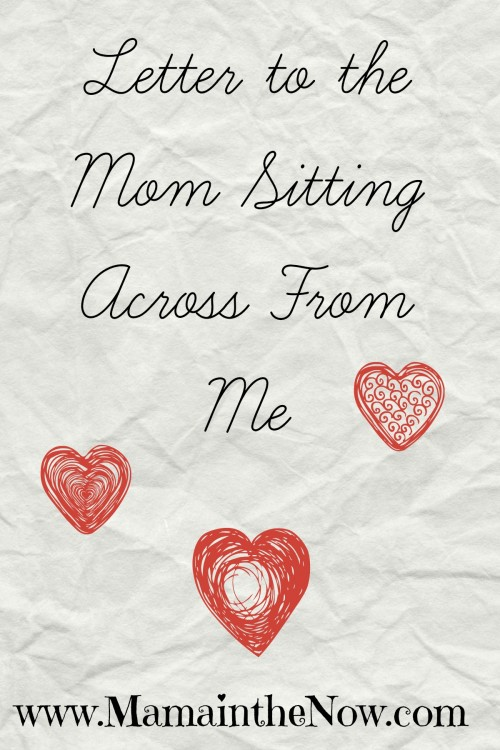 Letter to the mom sitting across from me. A heartfelt letter to a fellow medical mom. As we raise our special needs kids we will find a common bond like this in most waiting rooms.