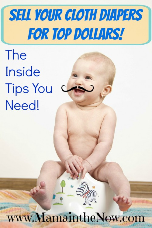Sell your cloth diapers for top dollars! Learn everything you need to know to get rid of your used diapers and earn cash at the same time!