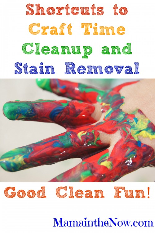 Shortcuts to Craft Time Cleanup and Stain Removal