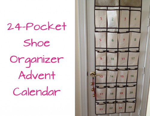 24 Pocket Shoe Organizer Advent Calendar