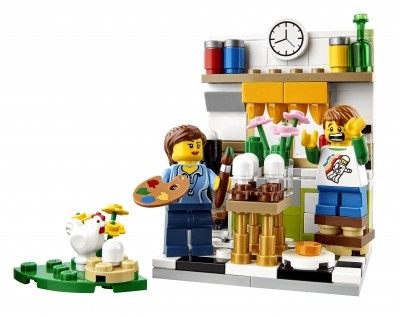 LEGO Set Painting Easter Eggs