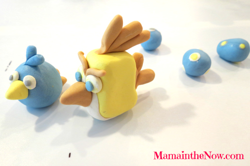 Angry Birds out of Polymer Clay.