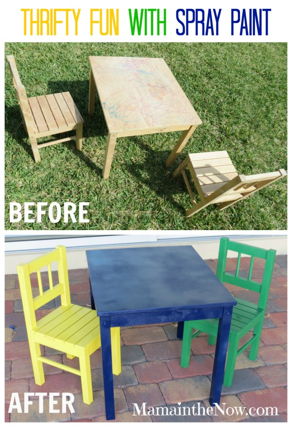 Thrifty Fun with Spray Paint. Before and After