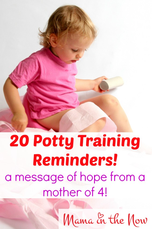 20 potty training reminders! A message of hope from a mother of four! Especially # 11!