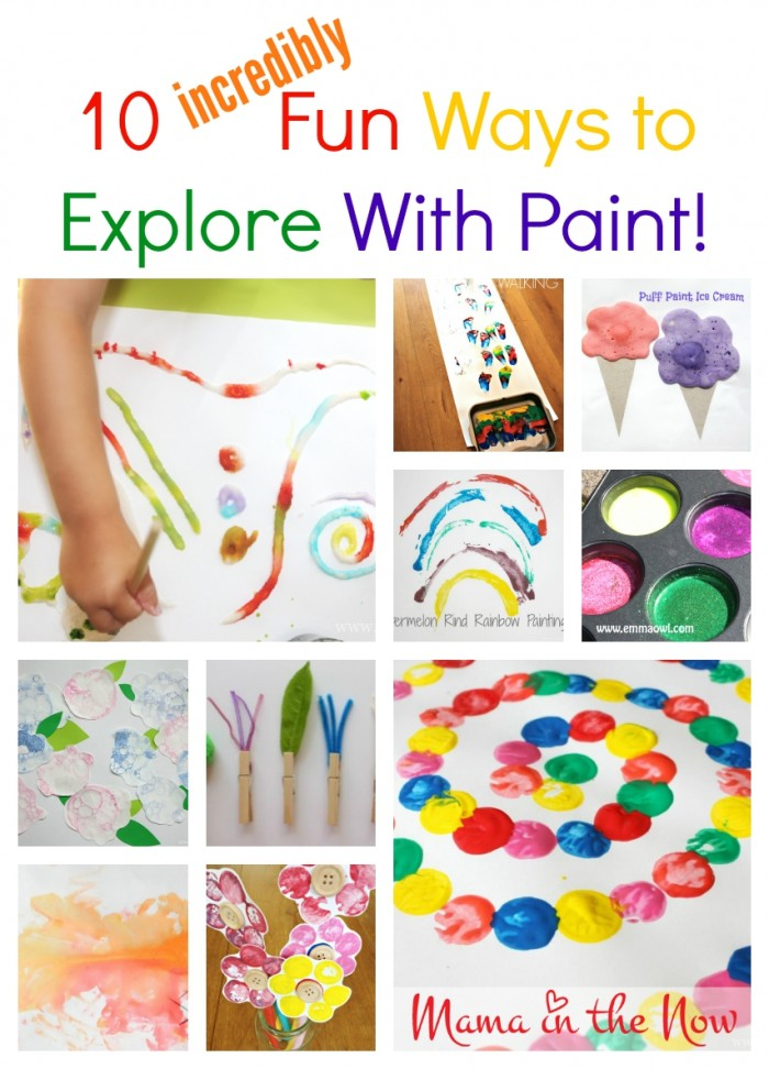10 incredibly fun ways to explore with paint