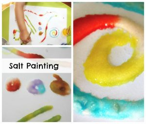 Salt painting - awesome fun with supplies you already have in your kitchen!