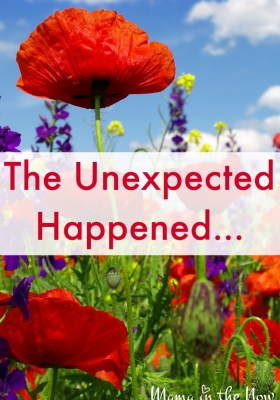 The Unexpected Happened - and we were NOT prepared! Would you have been?