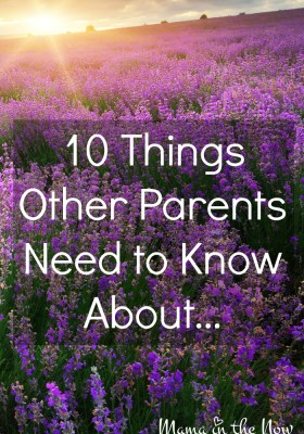 Ten Things Other Parents Need to Know About...! A series of empowerment and encouragement for parents with newly diagnosed children. These posts are one-stop resources of complex medical conditions.