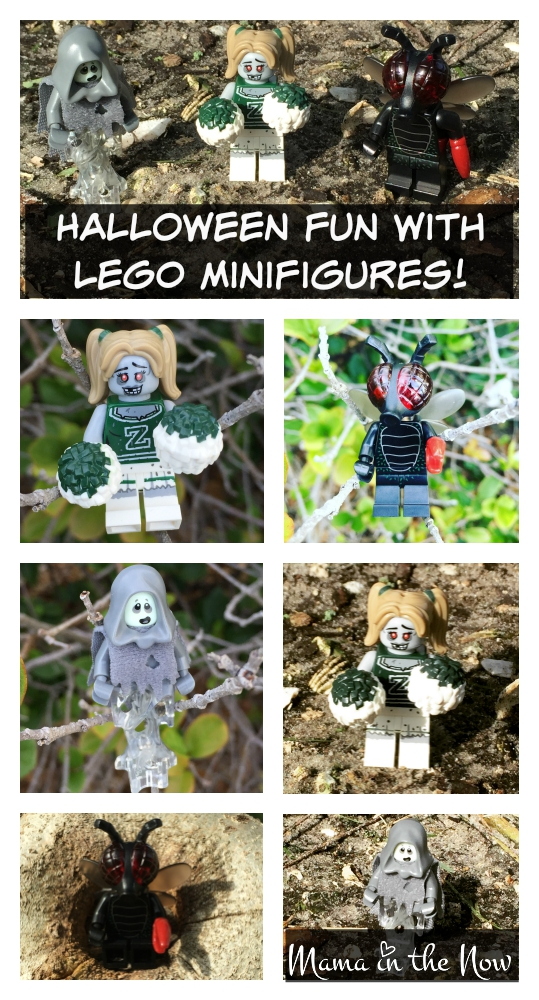 Halloween with LEGO Minifigures. Follow @MamaintheNow on Instagram for all the latest adventures of the LEGO Minifigures.
