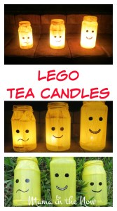 LEGO Tea Candle Lights! Easy and fun DIY craft just in time for Halloween and the dark winter months.