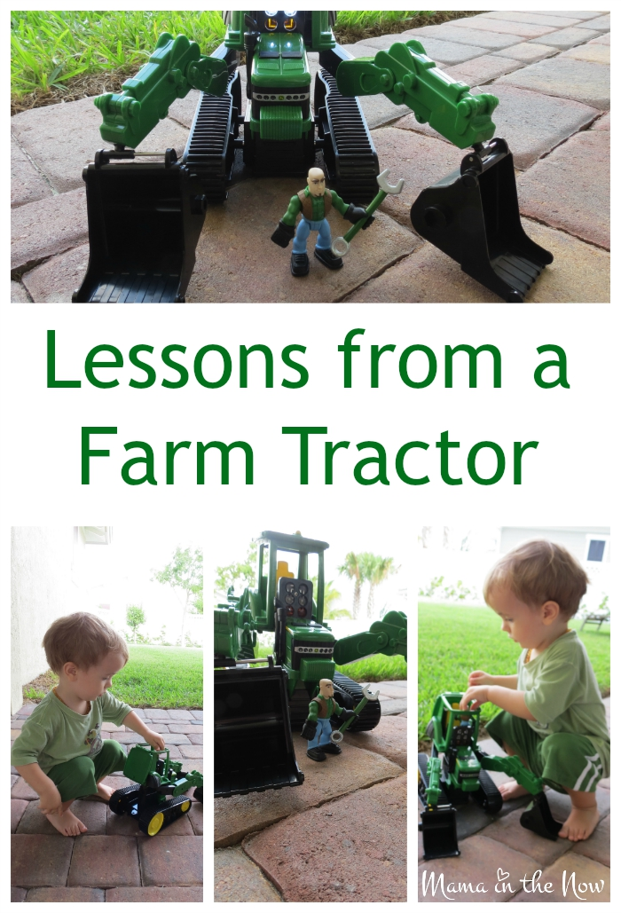Lessons from a Farm Tractor. Playing with my toddlers' new toy taught me a lesson.