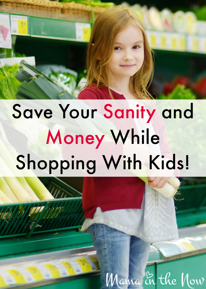 Save your sanity and money while shopping with kids. The best tips from a mother of four. Step # 2 is crucial!