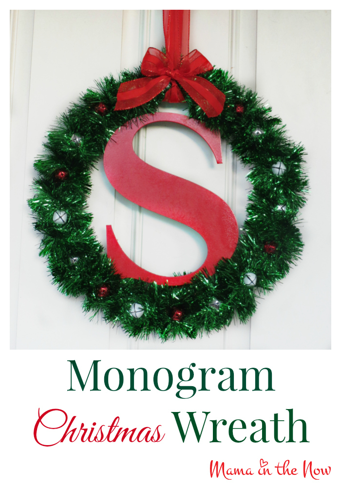 Diy Monogram Christmas Wreath Craft This Statement Piece Created In A Few Minutes Will Last