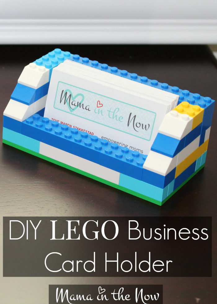 Diy lego business card holder diy lego business card holder perfect for gift for birthdays fathers day or mothers reheart